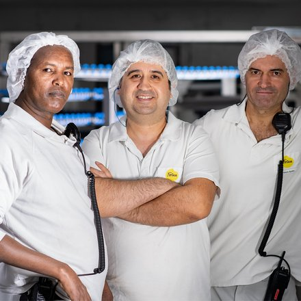 three members of the production shift 2
